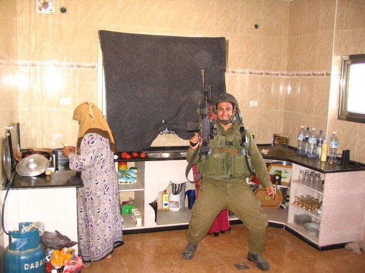 idf soldier in gaza kitchen